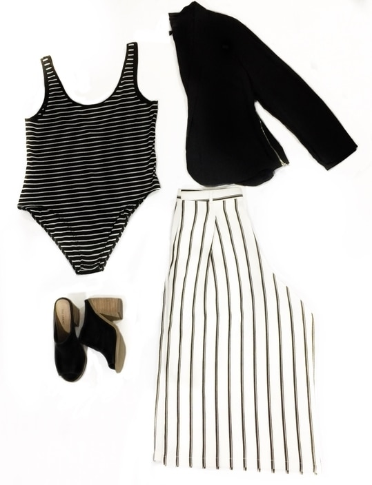 monochrome outfit idea, strip on strip is a great combo for this elegant yet sleek look.   #monochromelook #blackandwhite #fashion #outfitinspiration #fashionblogger #beautyvlogger #youtuber #youtubechannel #stylefromcloset #roposo #roposolove #roposogal