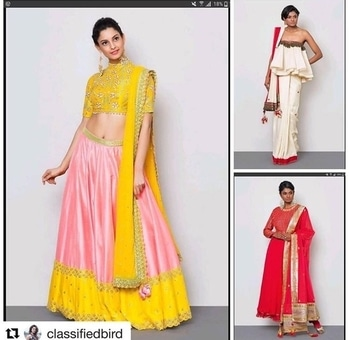 #repost #throwbackquestion #answer  Hello Aficionados,  Try and guess the designers of these three top picks by classy blogger @classifiedbird who obviously has great taste👍 Is it Divya Reddy, Nikasha, Masaba or Shantanu & Nikhil? If you are not sure and want to know the designer and their style. * * * Hello to all you fashionista's, Yes you guessed it right! The ace designers of these beautiful outfits on rent exclusively on www.datemycloset.com are (1) Divya Reddy for the elegant and beautifully embroidered pink and yellow Lehenga http://www.datemycloset.com/.../rent-divya-reddy-online.../ (2) Nikasha for off white saree from our celebrity closet collection, personal favourite of actress Sonam Kapoor. http://www.datemycloset.com/product/silk-saree-rent-delhi/ (3) Nikasha for the eloquent and festive red Anarkali set. http://www.datemycloset.com/.../nikasha-ladies-dress-on.../ Follow this space for many more fun filled and attractive contests! . . . . . . . . . . #datemycloset #saybyetobuy #thursday #luxurywear #luxuryrentals #mumbairentals #banglorerentals #delhirentals #chennairentals #designerrentals #designeroutfits #trend #outfit #friday #lehengasets #anarkalis #gowns #dresses #sarees #fashionista #fashion #fabulousdress #weddingdress #sangeet #mehendi #cocktails #reception
