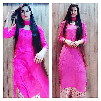 Create your own style, Let it be unique for yourself and identifiable for others💁🏻♀️💃🏻 . . .  #ethnic #indianwear #indiangirl #desigirl #desiavtar #pink #pinky #openhair #longhair #longkurta #palazzo #style #fashion #suitsuitkarda #well #formoreupdates #staytunedwithme #😉👍🏻❤️