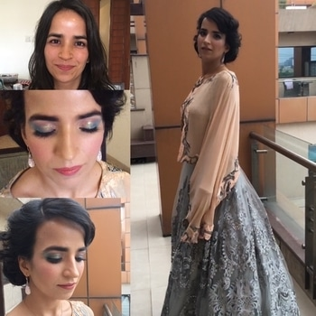 #behindthescenes  THE UNCONVENTIONAL BRIDE 👰  The making of this gorgeous bride.  So contemporary and yet so retro  So international and so fashionable . . . Kanika's #doll look for her engagement  #Blue and #pink and #sparkle and #shimmer. That retro updo went perfectly with her personality, taste and outfit.  @nivrittichandra #nivrittichandramakeup We specialise in creating looks that go with your personal taste and style as well as bring our own creativity and passion to make you look like the most stunning version of yourself. #EDGY, #FASHIONISTA, #PRINCESS and she looked like a dream and loved every bit of the look . . #highfashion #bridalmakeup #unconventional and we #loveit #glowingskin #airbrushmakeup #mistair #natural #natashadenona #charolottetilbury #kyliecosmetics #hudabeauty #jeffreestarcosmetics #smashboxcosmeticspro #makeuponfleek #makeupforever . . @wedmegood @wedzo @weddingsutra @weddingplz @weddingz.in @theweddingbrigade @theweddingdirectory.in . . .  #brandname #nvcmakeup #mua #nivrittichandra For enquiries call @ + 91- 9810509927 (delhi) / + 91-9004356627 (mumbai). Email nivrittichandra gmail.com