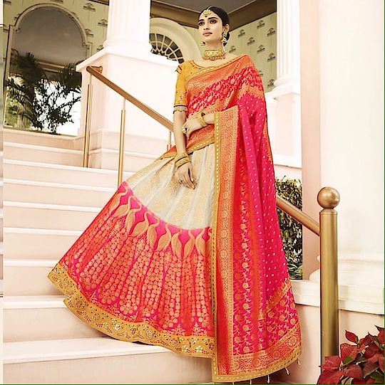 Off - White And Pink Heavy Embroidery Lehenga Choli  Product code - FCL875 Available at www.fashionclozet.com  Watsapp - +91 9930777376 Email -  info@fashionclozet.com Or DM for enquiries. #indianwear #indianfashion #indianwedding #prachidesai #adorable #beautiful #bollywood #makeup #mumbai #indianstyle #palazzo #punjabisuits #indowestern #bridalsarees #palazzopants #designerwear #saree #punjabiweddings  ##palazzoskirt #blogger #fashionblogger #weddingphotography #vancouverwedding #weddingphotographer #indianweddingbuzz #bridallehengas  #bridesmaids  #saree #sari