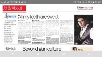 """♥️ In The #tribune  #newspaper  ...  As a #dancer what is my #diet  and how do I stay #fit ... Thk u Manpriya Singh for the #article  .. ♥️ .. 🙈🙈 """"All my Teeth are Sweet"""" 🙈🙈 #dancerslife  #indian  #ballroom  dance #latindance  #fitness    http://www.tribuneindia.com/mobi/news/life-style/-all-my-teeth-are-sweet/410109.html"""