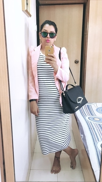Wearing @onlyindia - Maxi with a Blazer. Because this summer is all about Pastel shade and Cold tone colours❤❤ . . . #rachelruchi #indianblogger #indianfashionblogger #summerfashion #summer2017