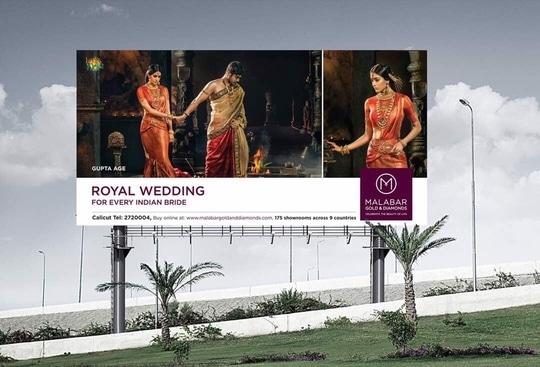Hoardings for Malabar Gold And Diamonds ❤️🙏🏻 #malabargoldanddiamonds #bridesofindia #guptadynasty #india #mumbai #actorslife #model