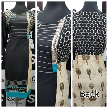 Rs:1000 Sc rayon kurti embroidery worn on front and back size 40