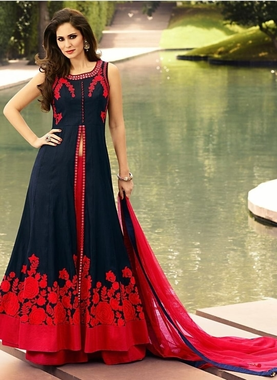 """New Arrival Navy Blue & Red Camric Cotton Indo Western @ Rs.1,199!.... Order Now :-https://goo.gl/HVP0zX Order On Whatsapp no +91-9925633987 Mail Us On :- info@khantil.in Product Code :- 17906""  #reddress #dress #indowestern #anarkali #designer #longkurti #plazzo #kurti #cotton #wedding  #indowesternwear"