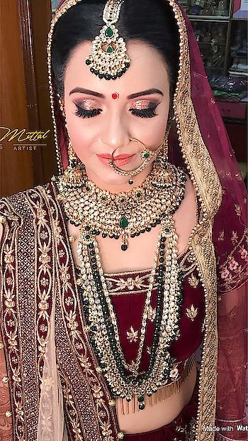 My lovely Bride Anjali #bridal #look #makeup #beautiful  #stunning #marvellous #makeupbydiamittal #mua #makeupartist #indianbride #indianbridalmakeupartist #bridesof2018 #wedmegood #shadesofweddings #bridalmakeup #weddingmakeup #theweddingchamber #diamittalmakeupartist #thebridesofindia #thebridesmakeover #diamittal #diamittalmakeovers @diamittalmakeovers