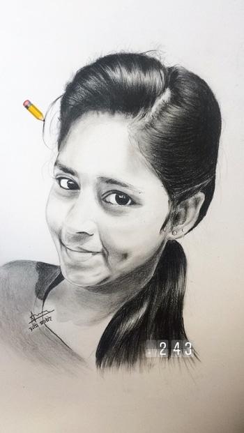 My Pencil portrait 🎨  #artwork #art #love #ropo-love #photoshoot #pencils #painting #beautifulthings #fashion #artist #followme #model #public