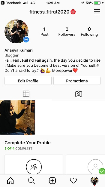 Hello guys . I am sorry I was not active for a while because my other engagements of work . As I just started my new journey as fittness blogger On instagram . Wish me luck guys. Please like my account nd share with your friends, collegue, family . If you like it. Lets be together nd make ourself to make the best version of ourself . Lots of love . Ananya