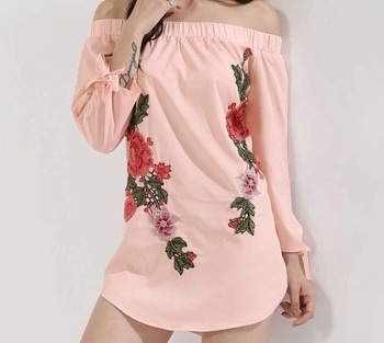 #floral tunic #peach #offtheshouldertop