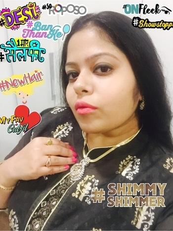 #desi #onfleek #1moreselfie #newhair #soroposo #shimmyshimmer #myfavoutfit #showstopper #banthanke