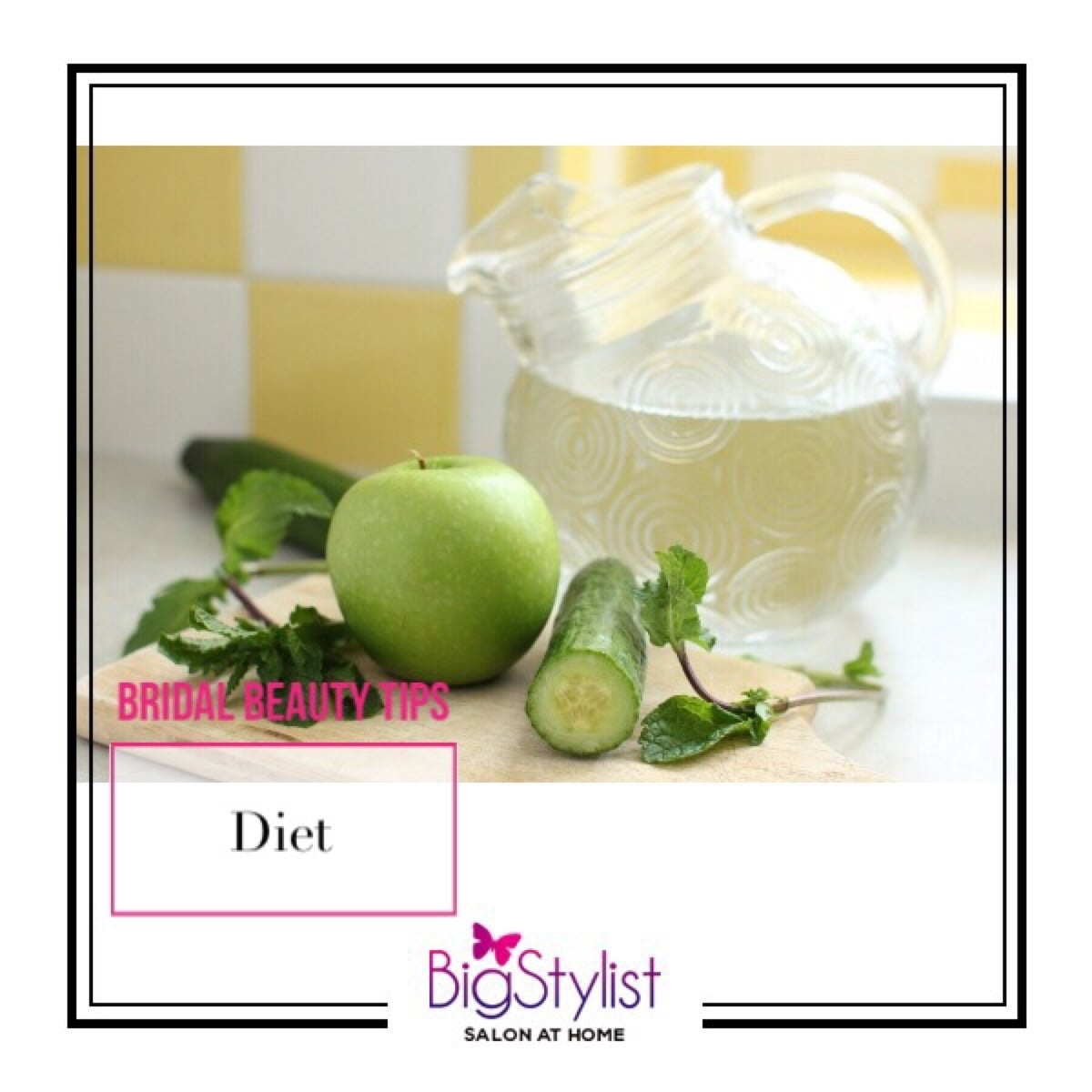 Drink enough water to keep your body toxin-free. Aim for at least 8-10 glasses of water. Opt for coconut water or lime water to shed the bloat. Eat a balanced diet consisting of fruits, green vegetables, and protein. #bridalbeautytips #beautytips #bridestobe #bride #skincare #diet #healthy #cleaneating #beauty #stayhomebeautiful #BigStylist