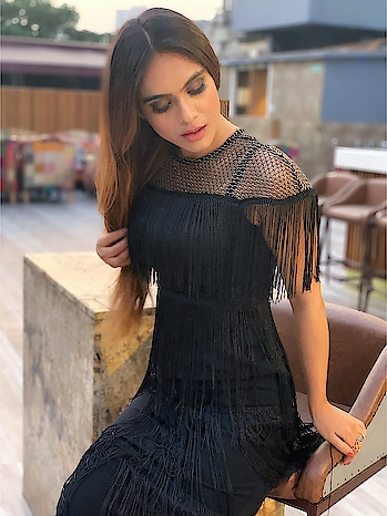 Someday you will be someone's restored faith in Love ... !!♥️♥️♥️ : This Fishnet Yoke Layered Fringe Dress  @sheinofficial  To buy this one use my code NEHAQ1 to get ₹200 off ,orders over ₹2000  search link - http://bit.ly/2S5hZIh%C2%A0 Search id - 574471 Grab this one now #happyshopping 😍 : : #lovewillfindyou #truelovequotes #lovequotes #black #blackdress #blackboots #fringe #fringedress #shooting #shoot #shootdiaries #photoshoot #stylish #fashionblog #fashionista #fashionblogger #styleblogger #sheinofficial #shein #bossbabe #boldandbeautiful  #nehamalik #model #actor #blogger #instafashion : : Mua @makeupbysanjam_  Hair @makeupbysabashaikh  PC @dhavalgajjarphotography