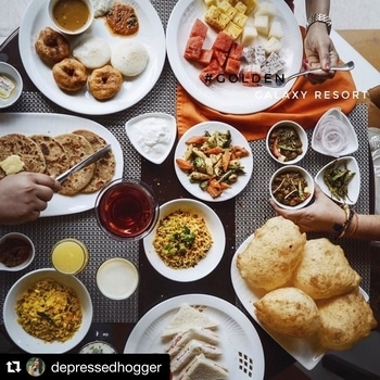 #Repost @depressedhogger (@get_repost) ・・・ The visit to this place always reminds me of Lush Life song. I was pampered here with endless amount of good food and unlimited breakfast options for just Rs 300 with pool view. If one stop for summer weekend vacay , I would recommend this place over and over again.. . . . 📍: Golden Galaxy Resort, Faridabad .  For the love of @handsinframe #handsinframe #sodelhi #dfordelhi #goldengalaxyfaridabad #danielwellington #dwpickoftheday #indiapictures #storiesofindia #beingdilliwaala #natgeotravelpic #natgeoinspires #beautifuldestinations #foodmania #beautifulcuisines #saadidilli #delhihai #heydelhi #flatlayyourlife #flatlaystyle #Himachal #onthetable #onthetableproject #sodelhi #dfordelhi #danielwellington #dwpickoftheday #indiapictures #storiesofindia