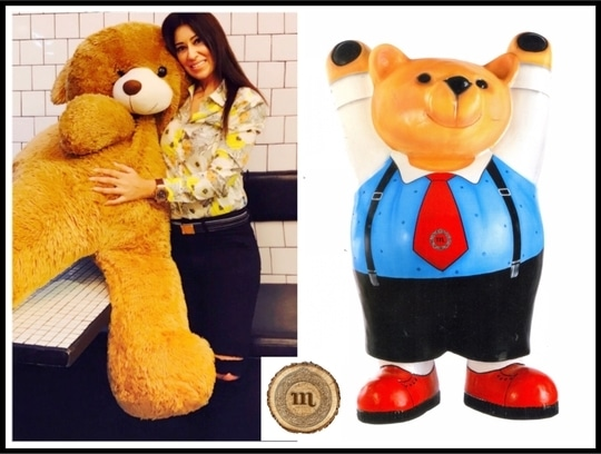 From a Child in me to a Child in you  #Happiness is part of #Giving #AllForACause #HandPainted Teddy #HappyChildrensDay #MahekaMirpuri