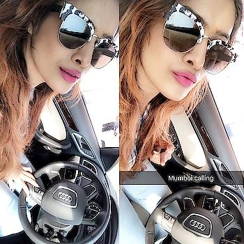 Good Morning,Back to Bay.. 😍😍 : #mumbaicalling #backtobay #backtobasic #mumbai #mycity #mylove #goodmorning #glory #morningglory #goodmorningpost #random #carfie #carselfie #mycar #audi #mybaby #classy #style #swag #travelblogger #luxurylifestyle #nehamalik #model #actor #blogger