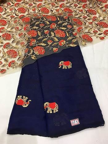 Elephant Emboridery Saree with heavy Emboridery blouse piece To purchase mail us at houseof2@live.com or Whatsapp us on +919833411702 #Houseof2 #bridesmaids #bridaljewellery #trending #affordablefashion #indianwedding #sarees #southasianwedding #bridesmaids #hindisong #keralawedding #jimikkikammal #teluguwedding #tamilbride #keralabride #hindustyle #bridesmaids #weddingideas #tamilwedding #kannadawedding #bridetobe #kalyanam #indianinspiration #sareedrapping #indianportraits #weddinginspiration #portraitpage #sari #ootd