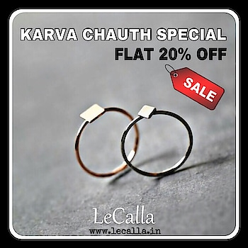 Karva Chauth offer is ON, Flat 20% OFF. Order now: www.lecalla.in   #LeCalla #Offer #Silver #Jewellery #20%OFF #OrderNow #unique #giftideas #insta #instagood #instajewelry #ootd #ootdfashion #photooftheday #trending #elegance #roposo #roposojewels #soroposo #roposolove #personalised #customised #exclusive #karvaoffer #karvachauth #giftideas