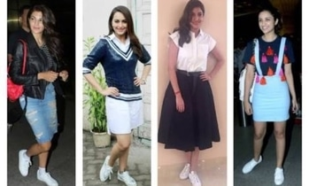 Style like these Bollywood Divas with classy white sneakers at Flat 20% off ₹1099                Use Code --SALEPICK                 #trndystyle #trendyshoes #sneakers #whitesneakers-newlook #bollywoodcollection #bollywoodstylesuits #shoesonline  #whitesneakerssale