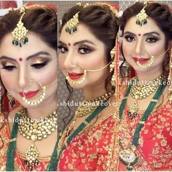 Bridal makeup #meemakshidutt #meenakshiduttmakeoversdelhi #makeupartist #muadelhi #bridalmakeupartist #beautyexpert #weddingmakeup #indianbridalmakeup  #makeup