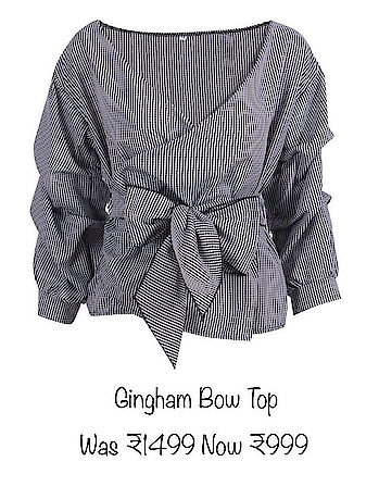 Gingham Bow Top ₹999 plus ship  From our 'Clearance Sale' Collection. Whatsapp to order now ❤️ #fashion fashion #style #stylish #love #TagsForLikes #me #cute #photooftheday #nails #hair #beauty #beautiful #instagood #instafashion #pretty #girly #pink #girl #girls #eyes #model #dress #skirt #shoes #heels #styles #outfit #purse