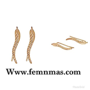 Golden Leaf EarClip Earrings  ₹249  Shop Link-https://goo.gl/rBns9n   #femnmasjewellery #earcuffs #onlineshopping #nonpierced #goldenearcuff #celebrityjewelry #earcuffpair #rhinestoneearcuffs #earrings #onlineshopingstore #fashionjewelry #accessories #party #girlsearcuffs #leafearcuffs