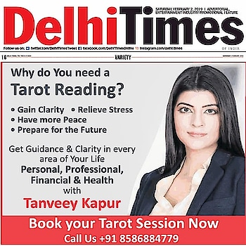 Whuly Would You Require a Personal TAROT READING with Me? @tanveey  Read More in Today's Delhi Times, Times of India Newspaper  TIMES Interact section  Connecting People, Connecting Needs South Delhi, Lutyens, Page 16   #lifecoach #mediacoverage #delhitimes #toi #timesofindia #media #tarot #tarotreading #cards #tarotcards #tarotlover #southdelhi #delhi #soul #goodvibes #tanveeykapur #guidance #personal #professional #health #wellness #financial #happiness #people #life #news #india