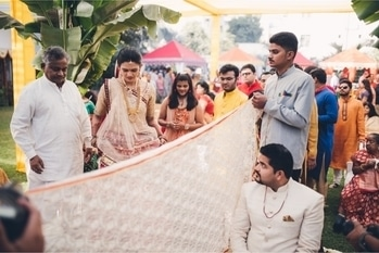 What an entrance of a bride #brides #bridesofindia #amazing #weddings #indianweddings #varunsclick #work #passion