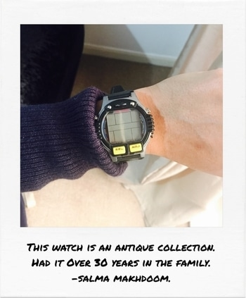 #this #is #a #antique #collection #watch #that #belongs #to #my #brother #that #we #have #had #in #the #household #for #years . #antique #watch #childs #watch #tells #the #time #and #can #play #games #on #it  #SalmaMakhdoom