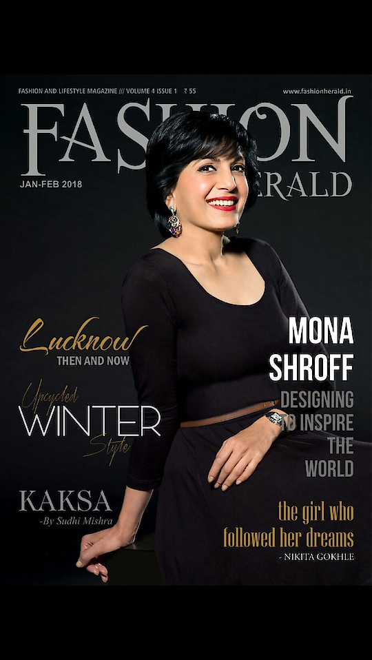 #Honoured to be on the#coverpage of #FashionHerald #magazine #january2018 #monashroffjewellery @shroffmons #monashroff