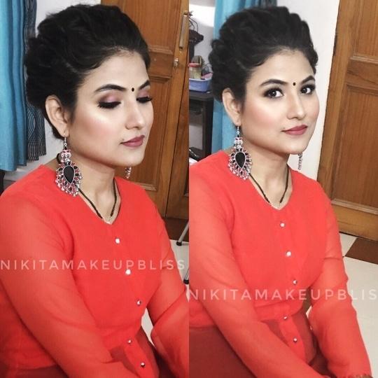 #Indian #weddingguestmakeup  ❤️Makeup by #nikitamakeupbliss #roposotalenthunt  . . . . . #makeup #makeupaddict #makeupartist #fashion #cosmetics #selfie #beautiful #beauty #tutorial #eyes #hair #likeforlike #lips #lipstick #eyeshadow #love #tagsagram4tags #hairstyle #makeuplover #mascara #powder #eyelashes #basemakeup #glitter #inatapic #photooftheday #lookoftheday