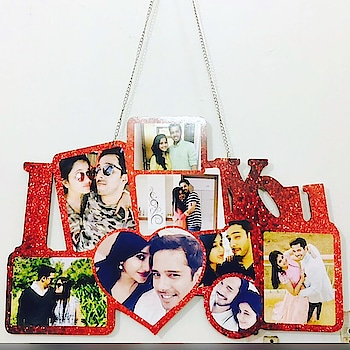 #staytuned with @saira7795  OWNER- @rawking_rubss  Valentine Special Love Frame  MDF 18*24 inch 7pics required 1050+Ship Can b customized😍 Dm for orders📥 #saira #gifts #dresses #fashion #trendingnow #valentinetheme #valentinesdays #roseday #chocolateday #promiseday #teedyday #valentinesgift #handmadegifts #handmadelovers #lovers #valentinesgiftforhim #valentinesgiftforher #handmadefashion #shoppingonline #sairacouture #multiplestore #ordernow🤗 #dmfororders📥