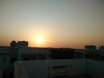 sunset of jamnagar