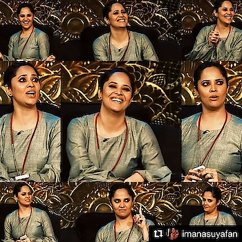 💚💚 #Repost @imanasuyafan with @get_repost ・・・ From Last Night #jabardasth #anasuya #anasuyabharadwaj #herexpressions😍 #smiles #expressionqueen👸 #TeamAnasuya #anasuyabharadwaj