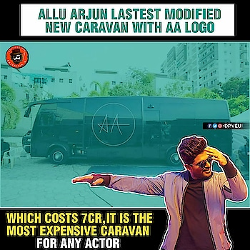 First ' SOUTH INDIAN ACTOR ' To have a sophisticated caravan ! 💥👌 #AlluArjun