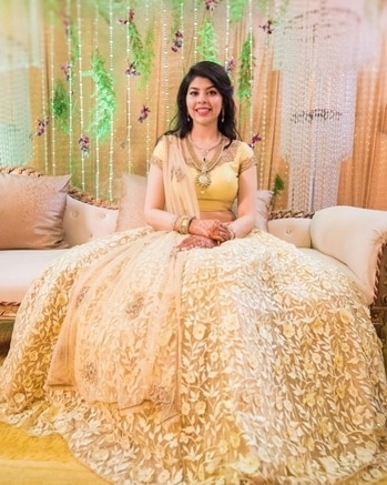 Every bride needs a shimmering ensemble like this one for her wedding!  Shop for such elegant lehengas from WedLista.com  Shot by: @weddings_by_42fps  #WedLista #FashionForWeddings