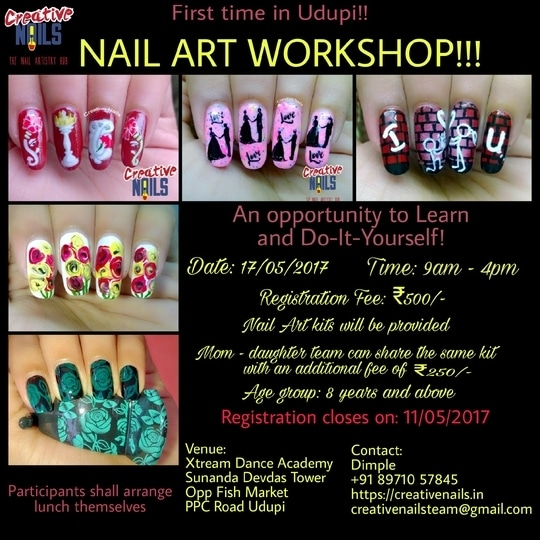 Good news for Nail Art lovers in Udupi Karnataka!!  An opportunity to learn and Do-It-Yourself!!