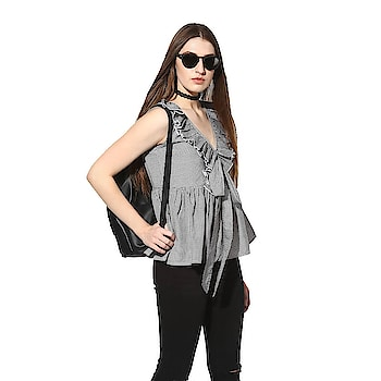 Buy now..  Trendy Black Cotton Top  Color : Black  Fabric : Cotton Type : Stitched  Length: 28 inch Pattern: Striped Size : 34, 36, 38 inch  Delivery : 6 - 8 business days Free and easy exchange/return up to 24 hours after getting delivery if any issue  Free delivery - cash on delivery also available in India  Order now by sending a message to get it..!  . Contact on WhatsApp: +91 93751 77927 Follow on :  facebook.com/ModeltyFashionStore instagram.com/ModeltyFashion  #womenswear #workwear #womensstyle #shopaholic #indianstyle #officewear #top #tops #trendytop #ss18 #womenstop #cottontop #westernwear #partywear #clothes #apparel #clothingbrand #celebrityfashion #fashionaddicted #shopnow #brandedclothes #fashionblogger #indianfashion #ahmedabad #celebritystyle #celebritylook #onlineshop  #fashion #MODELTYFASHION
