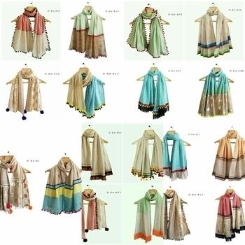 "😍 designes in khadi stoles ❤❤Khadi mix fabric Length...66"" ☎Price --550+shipping☎"