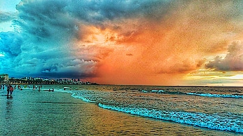 Unbelievable Clouds. It's real. Just Little color enhancement. Captured by me. #capture  #captured #capturedchannel  #nature #original  #nature  #naturephotography  #clouds  #cloud  #cloudy #sea  #sky #amazing  #photo #darkclouds #weather #beach #best #awosome