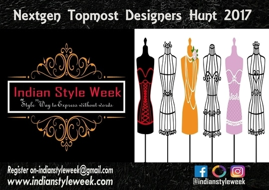 All fresh designers' talents are welcome to Participate. Hurry up! Send your entries soon to collect more votes!! Be discovered this season to be the nextgen topmost designer.  Indian Style Week is looking for the next gen topmost designers. Go for it and win the competition.  *How do you participate in this contest? 1-Like, follow and Share ISW page and    send neat illustration of your best design; Illustration should be signed at bottom by designer, and designer's one close up picture. 2-Your photo with the illustration will be uploaded by ISW on official sites like. *facebook-https://www.facebook.com/indianstyleweek/ *Instagram-https://www.instagram.com/indianstyleweek/ *Roposo-https://www.roposo.com/profile/indianstyleweek/387ba2c3-2061-46a3-ac56-443f873e55e4 3-Share this post and get as many like as possible. 4-Winner will be declared on the basis of   maximum likes andshare.   1 Like =1 Point 1 Share =2 Points 5-Top 3 Contestants will have opportunity to Showcase their designers on Indian Style Week (2ndEdition).     *Term and Condition 1-Contestent should send their photo and illustration. onindianstyleweek@gmail.com 2-Contestent should provide the close-up photo and the illustration with the signature written below the sketch. 3-They should send only one illustration not more than that. *Contestant May Disqualify if- 1-The illustration is a copy from anywhere. 2-The illustration is dirty or improper. 3-The picture of the illustration is dark or blurry. 4-There is more than one illustration provided. #fashionshows