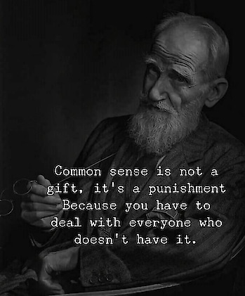 i have commonsense