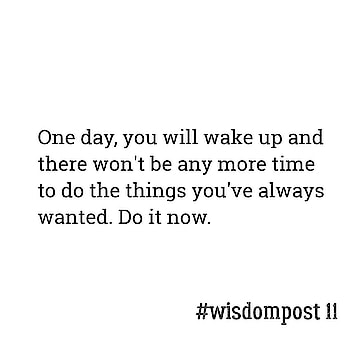 This is another reminder that you are going to die one day. So whatever it is that you want, go get it!  Just think about it... Is there anything that can stop you from achieving it?  NO. _ #wisdompost 11 #wisdom #ropo-love #ropo-daily #ropo-good #mondaymotivation  #naitik #inspirationalquotes  #instagram #quotes #quotestoliveby  #quotes  #motivationalquotes  #instagood  #writersofinstagram  #writing  #love  #motivation  #inspiration  #start  #death
