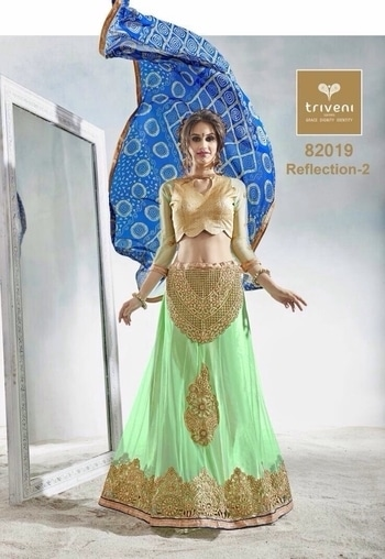 Langha catalog Brand name : Triveni  Catalog name : Reflections-2  Fabric :: Georgette +Fancy  Single Available also  Rate 1391/---- Shipping will be extra whatsapp 9891995724