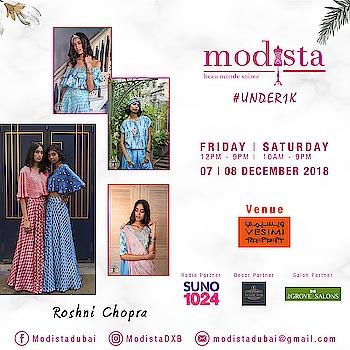 Fashion is all about happiness. Its fun..Its important but its not medicine !! Pret wear by @roshnichopradesign at Modista on 📅 Fri, 7th Dec, 12 - 9pm 📅 Sat,  8th Dec, 10 - 9pm 📍 VESIMI , DUBAI . . #modistadxb #modistarocks #modista #wintershow #under1k #fashionandlifestyle #designerwear #instafashion #shopaholic #shoptillyoudrop #mydubai #uae #abudhabi #picoftheday #shopping #fashionexhibition #fashionblogger #celebritystyle #shopthelook #lifestyle #exhibition