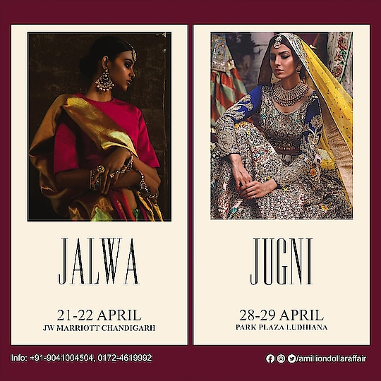 A Million Dollar Affair presents A Million Dollar Shows!   Book your stalls for Luxury Exhibitions in CHANDIGARH & LUDHIANA.  This April & May rock with us. For details call now +91-9041004504  #fashion_shopping #exhibitions #jalwa #jugni #womendress #clothingbrand #womenlifestyle #trendyclothes #fashionables #chandigarh #ludhiana #in fashion 💖 #bridal-jewellery #footwear #women-clothing