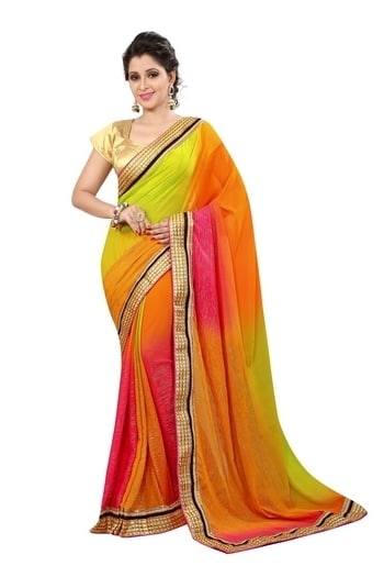 """Product Description  Saree Fabric : Wet lace Georgette ; Blouse Fabric : Matti Length – 5.50 Meter With 0.8 meter Package Content-1 Saree With 1 Blouse Piece DECLARATION – Buy ORIGINAL London Beauty products from the seller """"London Beauty"""". Product color may slightly vary due to photographic lighting sources or your monitor settings. WASH CARE : DRY CLEAN ONLY"""