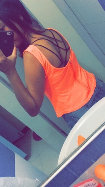 #florescent #bralet #orange #back