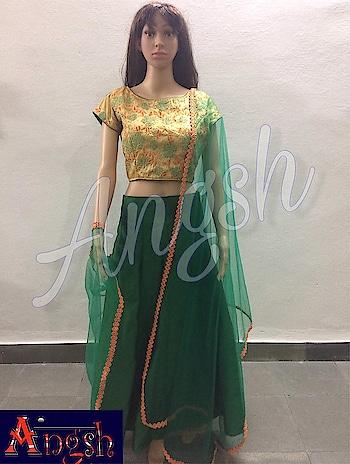 #skirt #croptop #embroidery #dupatta #festivelook #stylish #trending #angsh #jaipur #designer #boatneck  Dm to order😊