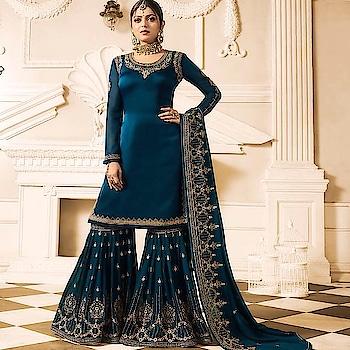 Drashti  Dhami Satin Georgette Gharara Suit  Product code - FCSS1819 Available at www.fashionclozet.com  Watsapp - +91 9930777376 Email -  info@fashionclozet.com Or DM for enquiries. #indianwear #indianfashion #indianwedding #instagram #adorable #beautiful #bollywood #makeup #mumbai #indianstyle #palazzo #punjabisuits #indowestern #bridalsarees #palazzopants #designerwear #saree #punjabiweddings  ##palazzoskirt #blogger #fashionblogger #weddingphotography #vancouverwedding #weddingphotographer #indianweddingbuzz #bridallehengas  #bridesmaids  #saree #gharara
